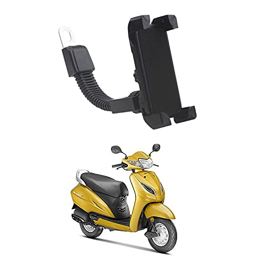 Ascension™ Universal Mobile Stand Mobile Holder for Bike,Scooty,Bicycle with 360 Degree Rotation   Anti-Vibration   for Honda Activa 5G