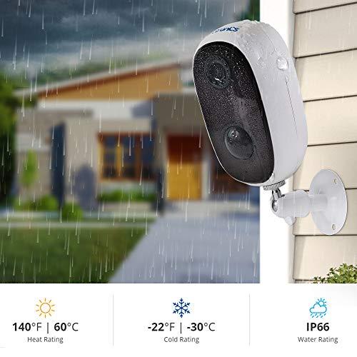 Überwachungskamera Aussen mit Akku 10000mAh,1080P Ctronics WLAN Kamera Outdoor Kabellose WiFi IP Kamera Sicherheit zu Hause mit PIR-Bewegungserkennung, 2-Wege Audio, IP66 wasserdicht