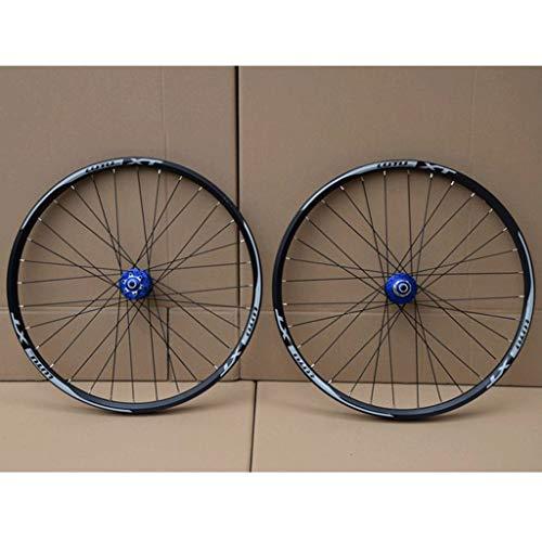 MZPWJD Ciclismo Ruedas MTB Juego Ruedas Bicicleta para Bicicleta Montaña Llanta Aleación Doble Pared Freno Disco 7-11 Velocidad Centro Tarjetas Rodamiento Sellado QR 32H (Color : D, Size : 26')