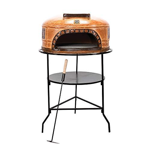 Tierra Firme HTN-011-N Genoa Talavera Wood-Fired Outdoor Pizza Oven, Beige