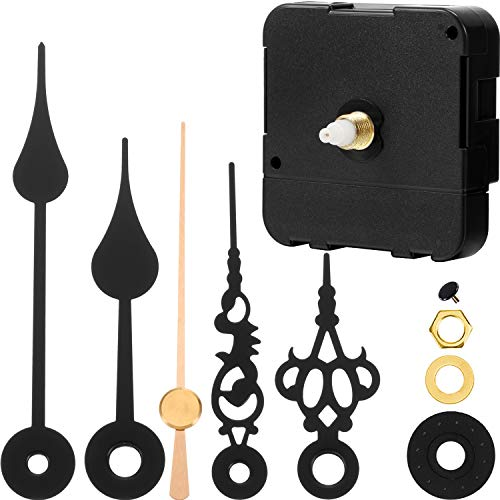 Hicarer Uhrwerk Mechanismus Batteriebetriebener DIY ErsatzTeilersatz durch 2 Paar Kurze Zeiger (Schaftlänge 4/5 Zoll/ 20 mm)