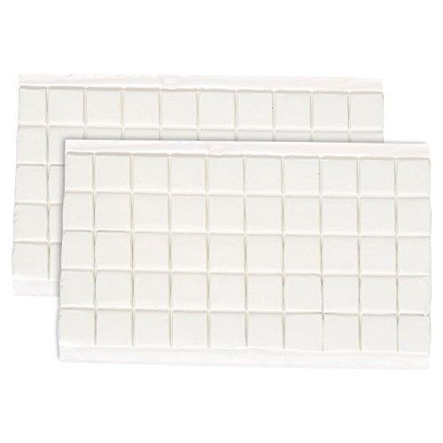 Juvale 100-Piece Adhesive Putty - Reusable Sticky Tack Putty - Great for Mounting or Hanging - Square Tabs - 3 x 5.9 x .08 Inches