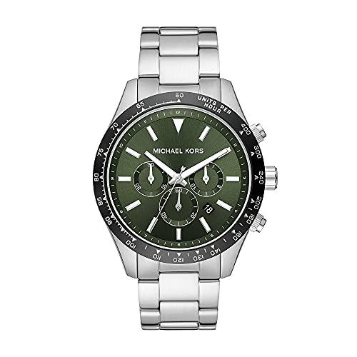 Reloj Layton para hombre, de Michael Kors, de acero inoxidable con cronógrafo, MK8912