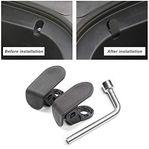Sunneey 2 stuks koffer voor de auto vrachthaken voor Tesla modell3, accessoires voor bevestigingsschroefafdekking met installatiegereedschappen, voorste kofferbak gemodificeerde rekwisieten