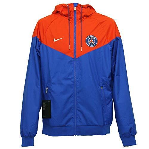 Nike Herren PSG M NSW Windrunner Woven Authentic Jacke, Hyper Kobalt/Rush Rot/Weiß, L