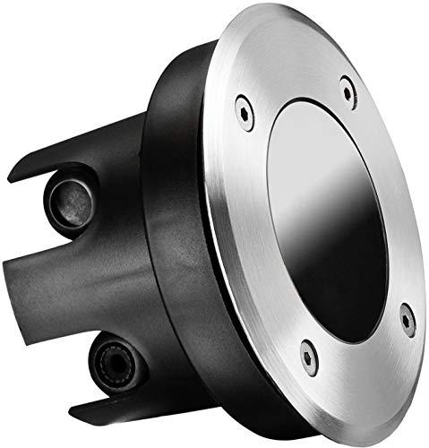 Foco empotrable para suelo IP67, redondo, de acero inoxidable y cristal, soporta hasta 2000 kg, profundidad de montaje de 70 mm, solo apto para módulos led.