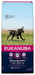 Tailored puppy food with fresh chicken for large breed dogs in a resealable bag Improved formula for the healthy digestion and optimal body condition of your dog A hexagon kibble shape which improves palatability Contains DentaDefense to reduce tarta...