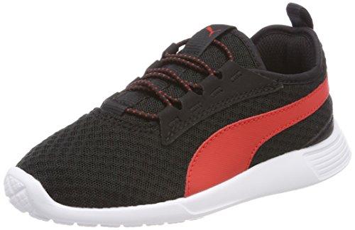 Puma Unisex-Kinder ST Trainer Evo v2 AC PS Sneaker, Schwarz Black-Flame Scarlet, 31 EU