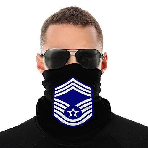 USAF Chief Master Logo Face Mask Bandana Neck Gaiter Warmer Lightweight Balaclava Black