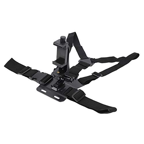 Sangle de harnais de poitrine noire pour caméra d'action Sangle de harnais réglable adaptée à la caméra de sport DJI adaptée à la caméra YI