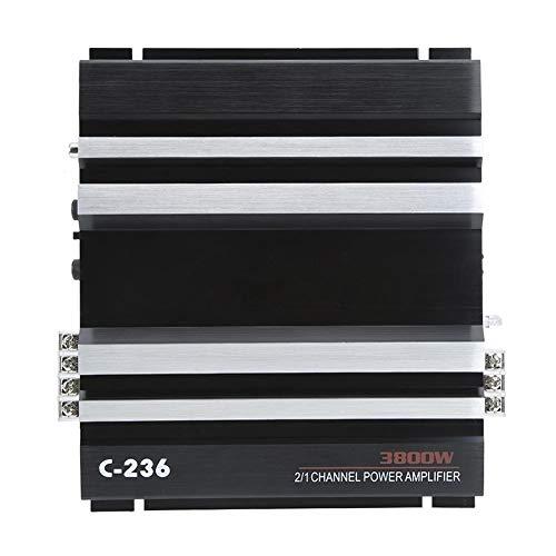 Qii lu auto versterker met krachtige 380 W en 12 V, 2-kanaals stereo hifi-audioversterker