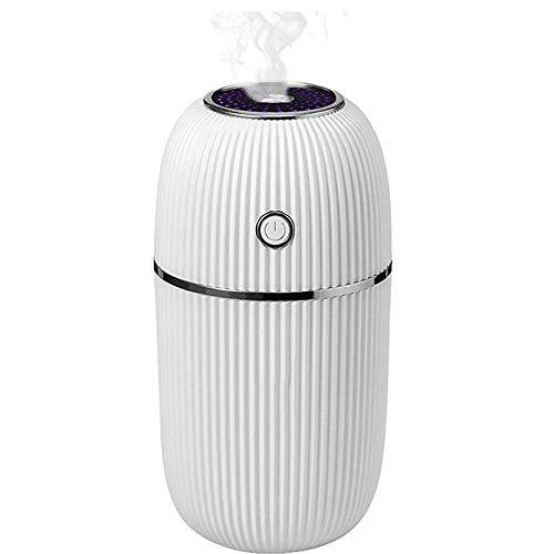 Climatizadores evaporativos Ventilador Aire Acondicionado ,silencioso coche del difusor con la respiración de luz LED de color de 7 noches, sin agua de apagado automático for automóviles Home