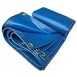 XIAZI Lona De Lona Resistente | Cubierta De Remolque De Tienda De Tierra Impermeable | Lona Multicapa En Muchos Tamaños (Azul),6x6m