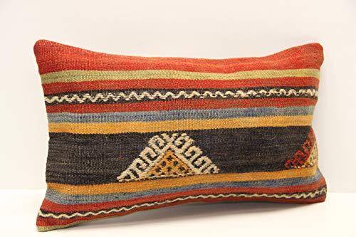 Modern kilim pillow cover 12 x 20 inch