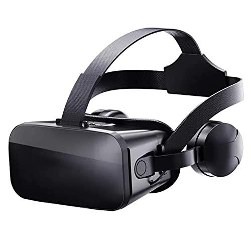 HTYQ Juegos Películas Auriculares 3D VR para iPhone Y Teléfonos Android De 4.5-6.0 Pulgadas, Lentes De Realidad Virtual 3D con Súper Ángulo De Visión De 120 °, Lentes Grandes Gafas 3D VR Compatibles