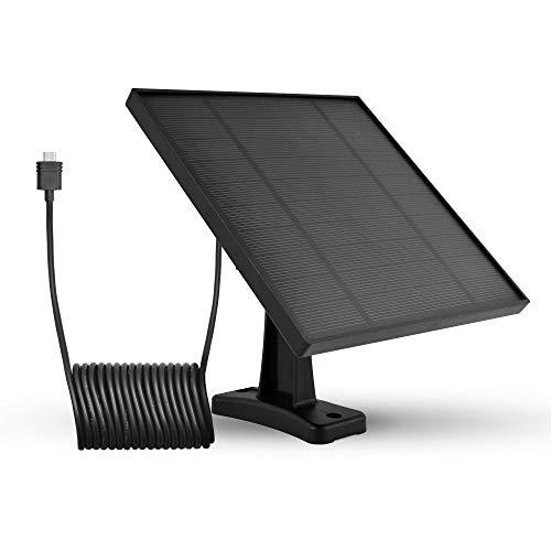 LEICKE Zonnepaneel voor draadloze outdoor door op batterijen werkende IP-camera's, weerbestendig, instelbare houder, ononderbroken stroomvoorziening