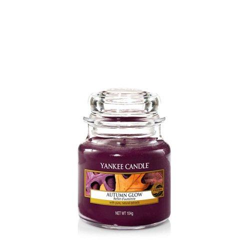 Yankee Candle Autumn Glow Glaskerze, violett, klein