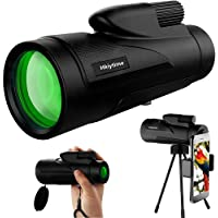 Hkiytime 12x50 HD Monocular Telescope with Smartphone Holder & Tripod