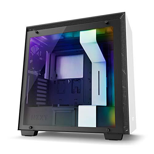 NZXT H700i - Caja PC Gaming de tamaño mediano ATX - Dispositivo inteligente con tecnología CAM - Panel de vidrio templado - Blanco/Negro - Versión 2018