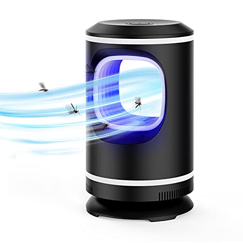 Ahlirmoy Lampe Anti Moustique, Anti Moustique Exterieur, LED Lampe pour Intérieur UV Tueur de Moustique Non Toxique/Pas de Rayonnement/Opération Silencieuse (Noir)