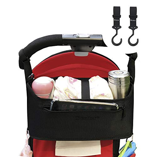 Denior® Kinderwagen Organizer, Unten Papiertuch herausziehen,Aufbewahrungstasche, Kinderwagentasche Gro?er Stauraum für Spielzeug, Windeln, Trinkflaschen, Handys und andere Babysachen(eingesackt)