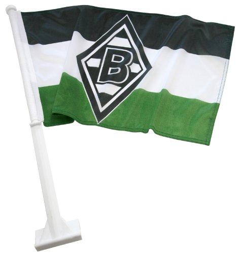 Borussia Moenchengladbach Autofahne 30x45cm Schwarz Weiss Gruen