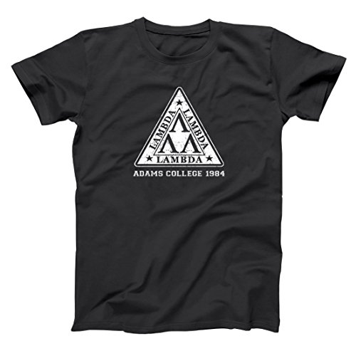 Tri Lambda Nerd College Fraternity Funny Geek Retro Revenge Old School Comedy Mens Shirt Small Black