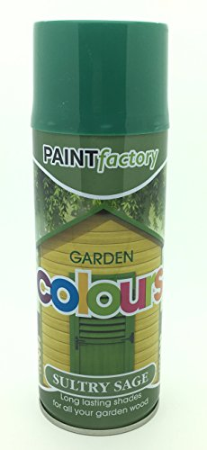 Sultry Sage Green Garden Aerosol Spray Paint Lasting Shades For Wood 400ml...