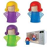 Limpiador de microondas Metro Angry Mama portátil acción rápida vapor cleaner-no productos químicos necesidad Color al azar 1pc
