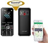 simvalley MOBILE Kinder Handy: Komforthandy mit Garantruf Premium, XL-Farbdisplay, GPS-Tracking und App (Seniorenhandy GPS)