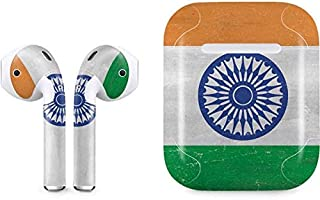 Skinit Decal Audio Skin for Apple AirPods (1st Gen) - Originally Designed India Flag Distressed Design