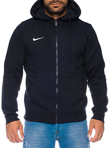 Nike Team Club Fz Hoody - Sudadera con capucha para hombre, color Negro (Black/Football White), talla M