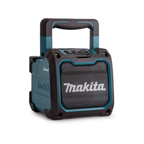 Makita DMR200 Kabelloser Bluetooth Lautsprecher, Blau/Schwarz mit USB Anschluss
