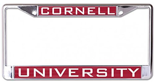 WinCraft Cornell University Premium License Plate Frame, Metal with Inlaid Acrylic, 2 Mount Holes, red