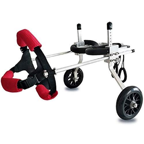 HNWNJ Haustierausstattung Pet Rollstuhl Einstellbarer Hund Rollstuhl Behinderter Hund Hilfslauf Walking Bike Hinterbein Übung Fahrrad Zwei Radhalterung Haustier Auto (Size : XX-Small)