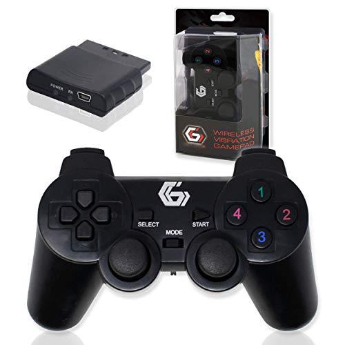 2.4GHz Drahtlos Zwei Vibrationen Gamepad/Spiel Joypad-Steuerung für PS2/PS3/PC (Windows 7/8/10) / iCHOOSE