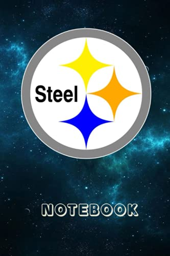 Football Notebook : Pittsburgh Steelers Daily Planner Notebook For Sport Fan Thankgiving , Christmas Gift Ideas Type #14