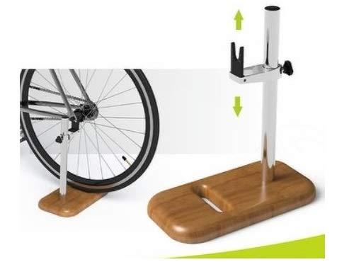 3U international Modern Wood Handle Bicycle Floor Pump with Bike Display Stand Gauge and Smart Valve Head Display Stand