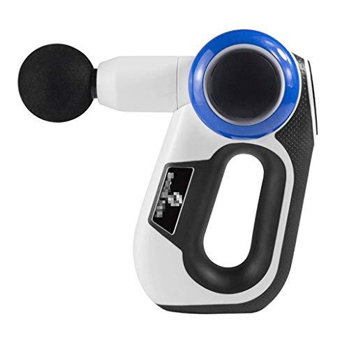 ZJGZDCP 24V Percussion Therapy Massage Gun Professional Body Massager Massage Gun(Colour:White,Size:23 * 13 * 5cm)