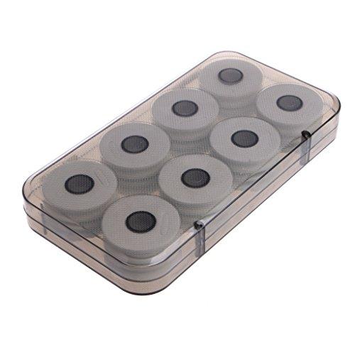 siwetg 8/16 Stks Foam Winding Board Visserij Lijn Schacht Bobbin Spools Tackle Box Gift Vissen Main Line Box Witte Schacht Grijze Doos