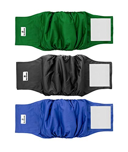 Pet Parents Premium Washable Dog Belly Bands (3pack) of Male Dog Diapers, Dog Marking Male Dog Wraps, WickQuick Belly Band for Male Dogs Color: Gentlemen, Size: Small Dog Belly Band