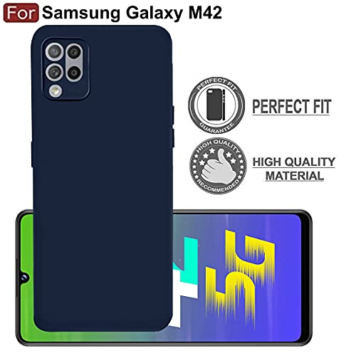 CEDO Samsung M42 5G Back Cover   Matte Soft Silicon Flexible   Camera Bump Protection   All Side Shock Proof Rubberised Back Case Cover for Samsung Galaxy M42 5G (Blue)