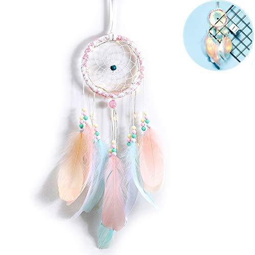 gotyou Sternenlicht TraumfäNger Deko,HäNger Wanddeko Dream Catcher,Handgemachter Federn TraumfäNger Indischen Mythologie für Wandbehang Dekoration Handwerk Geschenk