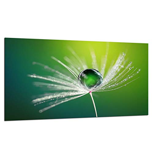 TMK | Placa de cristal para cubrir la vitrocerámica de 90 x 52 cm, protección contra salpicaduras, placa de cristal, tabla de cortar, flor