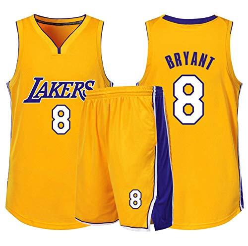 HJX888 Ropa De Baloncesto De La NBA Masculinos del Juego,Kobe Bryant Camiseta con Número 24,23,8 Lakers,8a,XL