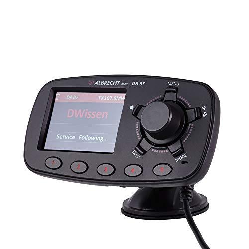 Albrecht DR 57 Adapter zum Aufrüsten von Auto-Radios, 27257, FM-Transmitter für DAB+ Sender und Bluetooth-Verbindung vom Smartphone zum UKW-Radio