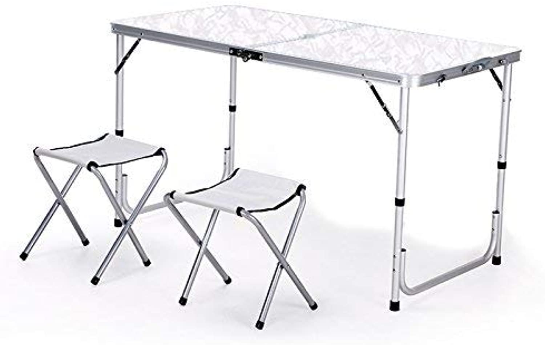 BJYG Tavolo Pieghevole Outdoor Famiglia e Sedie Tavoli da Tavolo Portatili Tavolo da Barbecue Piccola scrivania (Coloreee  E)