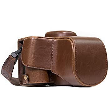 MegaGear Nikon D3400 Ever Ready Leather Camera Case and Strap with Battery Access - Dark Brown - MG857