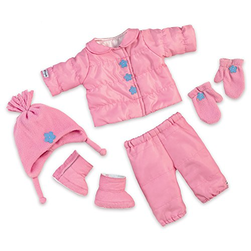 The Ashton-Drake Galleries 7 Piece So Truly Mine Baby Doll Winter Coat Accessory Set by