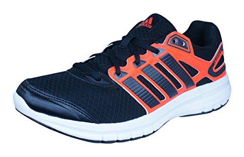 adidas Originals Herren Duramo 6 Laufschuhe, Orange (Core Black/Core Black/Solar Red), 44 2/3 EU